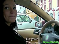 Alluring Czech taxi driver accepted the offer to earn money and have a great time at one