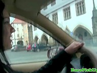 Alluring Czech taxi driver accepted the offer to earn money and have a great time at one 5