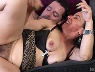 Bearded lovelace never turns down an opportunity to drill mature lady's hairy beaver 5