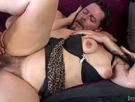 Bearded lovelace never turns down an opportunity to drill mature lady's hairy beaver 6