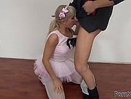 Ballet tutu doesn't interrupt teenage dancer from active sex with excited choreographer 4