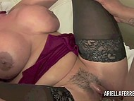 Big-tittied lady with trimmed vagina for a long ago needed great black dick to forget about her lust 8