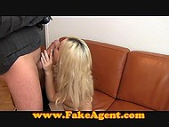 Fragile beauty with tanned body quite easily brought experienced agent to ejaculation 5