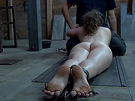 Pervert chained teen girl to the floor and owned her vagina and tender mouth non-stop 5