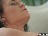 Delectable lovely got tired of waiting for her man's appearance and toyed hot spot with vibrator 6