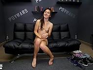 Худенькая тёлочка мечтает о том, чтобы сниматься в порно фильмах 11