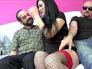 Three men pitched in to call prostitute and fucked her well in mouth, ass and pussy 3
