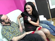 Three men pitched in to call prostitute and fucked her well in mouth, ass and pussy 4