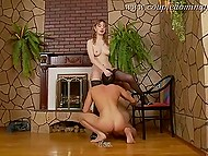 Bisexual threesome is the thing Russian girl in stockings and her lover long wanted to try 4
