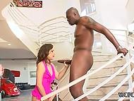 Чёрный парень спокойно изменяет своей жене с белой сексуальной цыпочкой 8