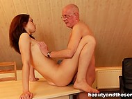 Colleen must be excluded from school and she is having sex with old headmaster to prevent it 8