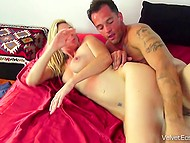 Boy shags woman in her holes and cums on face making her scream loudly 9