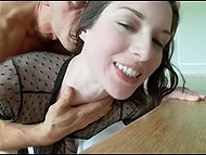 Beauty with porcelain skin puts every effort into swallowing fat boner of her French tempter 8