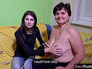 Teenage Czech girl found old woman on the internet and went to her place to fool around 5
