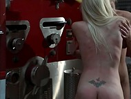Hot seductive lesbians caress each other's peach with tongues and gentle fingers on the fire truck 8