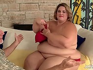 BBW gathering sexual experience from middle-aged swain who is much smaller than she is 3