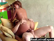 Latina with round ass has hot sex with her new brutal neighbor to become closer 11