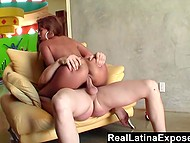 Latina with round ass has hot sex with her new brutal neighbor to become closer 9