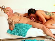 Small camera allows bruiser to record sex with tattooed porn actress without much effort 8