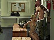 Brave soldier received secret mission, so he madly fucked blonde nympho to carry it out in time 6