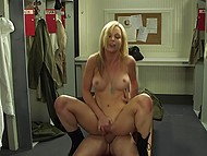 Brave soldier received secret mission, so he madly fucked blonde nympho to carry it out in time 9