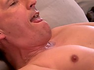 From one glass of champagne German Mia Magma became excited and gladly took part in anal sex 5
