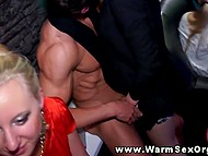Scorching chicks are ready to spend lifetime in the club by sucking dicks and kissing boys 7