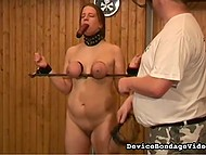 Girl is submissive in her heart and she always wanted to be punished by group of big guys 9