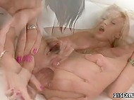 Huge transparent dildo came to taste to assholes of two lecherous lesbians 10