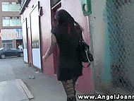 Tattooed Joanna Angel brought cameraguy in the armory club toilet and gave him a BJ 4