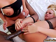 Black giant's mammoth schlong stretched buttholes of blonde and busty baroness 9