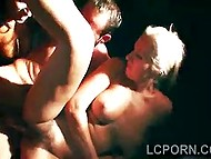 Bloke is intimate with two Portuguese hotties of easy virtue behind the curtain 11