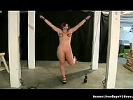 Young amateur is trying herself out in submissive role during BDSM game 10