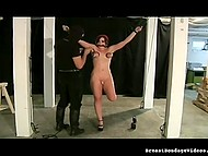 Young amateur is trying herself out in submissive role during BDSM game 11