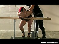 Plump-bodied nymphomaniac willingly agreed to be tortured by all rules today