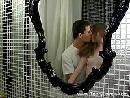 Couple was overflowing with passion in toilet so they fucked there not to lose this feeling 4