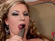 Ladies have two vibrators in reserve so they can satisfy their holes simultaneously 7
