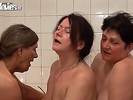 Granny invited all her girlfriends that were still alive for 80th birthday celebration in sauna 11
