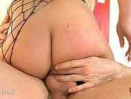 Passionate blondie is gratefully getting cock into her narrow pussy and ass 7