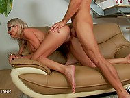 Tigress with hefty bosoms felt so good that she asked young lover to not stop shagging bald slit 10