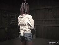 Девушке предстоит помучиться в металлических оковах, истязаемой кнутом госпожи 8