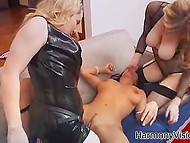 Succulent lesbians torment their girlfriend fucking her hard in all ppossible positions 5