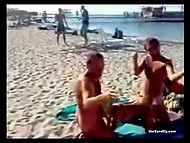 Shameless men and women are playing dirty games on beach and get caught on camera 8