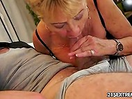 Granny loves bearded men and this one was invited to drink tea but after suddenly fucked 4