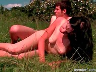 Walking in the woods of young couple ended with beautiful sex in the meadow 10