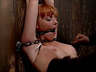 Red-headed girl looking for cash decided to take part in BDSM movie-making 5