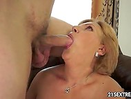 Hottie mature woman finds comfort in young lover's embrace when he fucks her 4