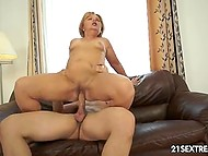 Hottie mature woman finds comfort in young lover's embrace when he fucks her 6