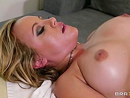 Session of erotic massage turned into intimate action of client and big-cocked specialist 6