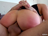 MILF with giant tits stretched anus with beads before piping-hot anal invasion  7